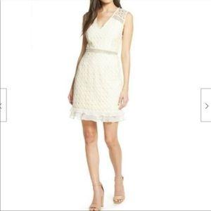 Cooper St Blondie Mini Lace cream Dress, size 12